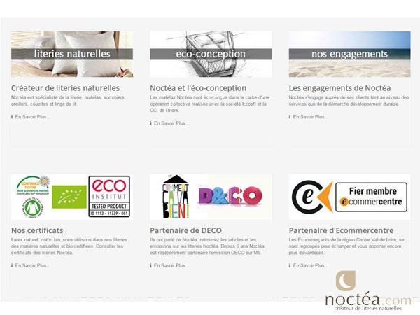 une vue du site de Noctéa