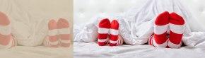 Garder ses chaussettes au lit